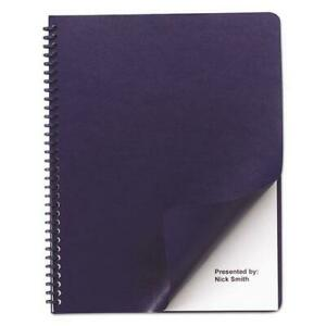 Presentation Covers For Binding Systems 11 25 X 8 75 Navy