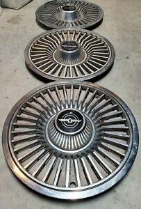 Hubcaps Ford Thunderbird 15 Oem Stock Lot Of 3
