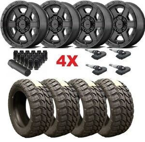 Black Wheels Rims Tires 33 12 50 17 Xd Mt Mud M t Method Fuel Trd