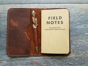 Kodiak Leather Field Notes Journal Cover Handmade In Usa