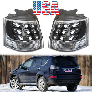 Pair Tail Light For Mitsubishi Outlander Ex 2007 2013 Left Right Rear Brake Lamp