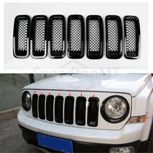 Black Mesh Grille Grid Guard Inserts Trims Cover For Jeep Patriot 2011 2016 2013