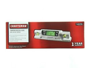 Craftsman Torpedo Digital Level Lcd Screen Compact With Case 948295