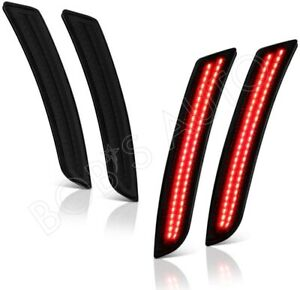For 16 20 Chevy Camaro Ls Lt Ss 4pc Side Marker Lights Smoke Tinted Red Led Lamp