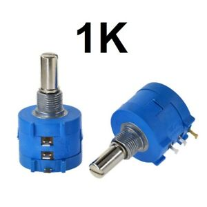 1k Ohm Rotary Potentiometer Pot 10 Turn Variable Dial Resistor