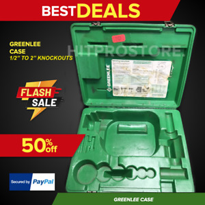 Greenlee Hydraulic Pump Knockout Set Case Preowned Durable
