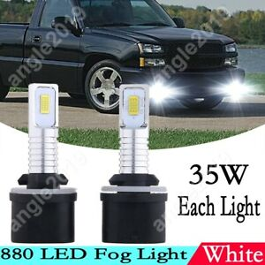White 70w 8000lm Led Fog Light Bulbs For Chevrolet Silverado 1500 2500 1999 2002