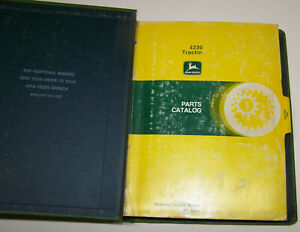 John Deere 4230 Dealer Parts Catalog Pc 1294 Including John Deere Binder