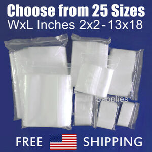Laddawn Clear Ziplock Top Plastic Bags 2 mil Assorted Jewelry Zip Lock Baggies