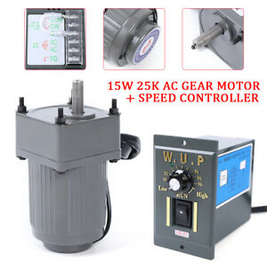 Upgrade 110v 15w 25k Ac Gear Motor Electric Variable Speed Controller 54 0rpm