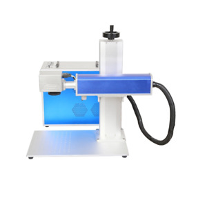 20w Raycus Laser Source Split Fiber Laser Marking Machine With Rotary 110 110mm
