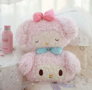 Cute My Melody Plush Car Seat Head Rest Cushion Pillows Neck Rest Pillow 2pcs