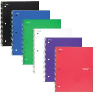 Mead Five Star Subject Spiral Notebook 100 Sheets Wire Bound 3 Hole s