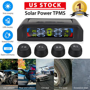 Solar Power Tire Pressure Monitoring System Wireless Tpms Monitor externa Sensor