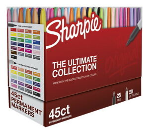 Sharpie Ultimate Pack Fine And Ultra Fine Tips Assorted Set Of 45