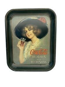 Coca-Cola Tray Delicious And Refreshing Red Rose Hat