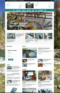 Complete Angler And Fishing Turnkey Website Business