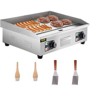 Electric Grill Griddle Grill Combo Commercial Grooved And Flat Top 30 inch 3000w