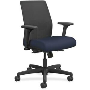 Hon Ignition Mesh Back Task Chair Navy Fabric Seat Fabric Back Black