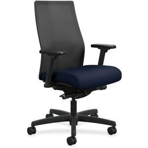 Hon Ignition Mesh Back Task Chair Fabric Seat 5 star Base Navy 27