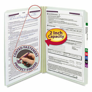 Recycled Pressboard Folders With Two Safeshield Coated Fasteners Straight
