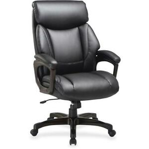 Lorell Executive Chair Black Bonded Leather Seat Black Bonded Leather