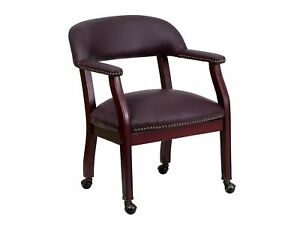 Flash Furniture Leather Conference Chair Burgundy mahogany b z100 lf19 lea gg