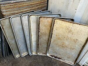 Set Of 90 Commercial Aluminum 18x26 Full Size Bakery Baking Cookie Sheet Pans