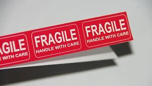 Fragile Sticker 1 96 X 1 00 Inc Fragile Handle With Care Stickers