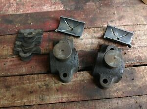 Sattley 3 Hp Montgomery Ward Hit Miss Engine Main Crank Babbitt Bearing Caps