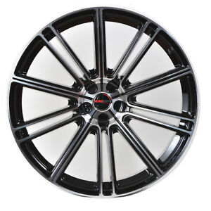 4 Gwg Wheels 20 Inch Staggered Black Flow Rims Fits Ford Shelby Gt 500 2007 2018