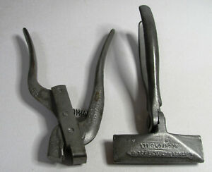 Whitney Metal Tool 44 Hand Seamer And 141 1 Snap Lock Punch Tool Vtg Look