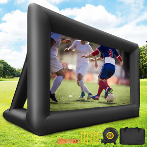 Vevor 16ft Inflatable Movie Projector Screen Portable W blower Carry Bag Outdoor