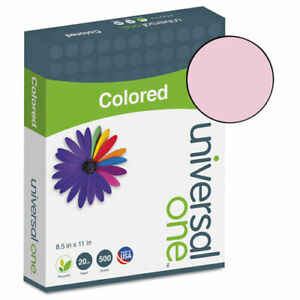 Colored Paper 20lb 8 1 2 X 11 Pink 500 Sheets ream Unv11204