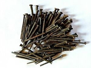 100 Antique Wrought Iron Square Cut 2 1 2 Nails