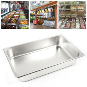 6 Pack Full Size 2 4 Deep 8 5 L 13l Stainless Steam Table Hotel Buffet Pans