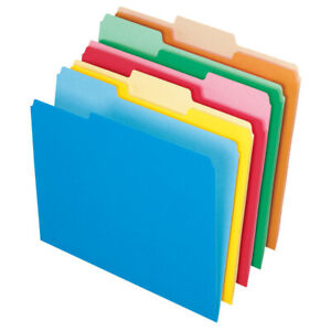 Office Depot Brand File Folders Letter Size 1 3 Cut Assorted Colors Box Of