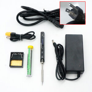 Ts100 Set With Us Power Supply Portable Digital Soldering Iron Kit B2 Bc2 I Tips