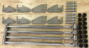 Parallel 4 Link Kit 1 25 Bars 1 4 Steel Brackets Universal W O Panhard Bar