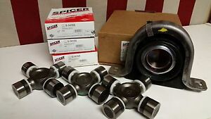 Spicer U joint Carrier Bearing Rear Driveshaft Kit 1999 09 Ford F250 350