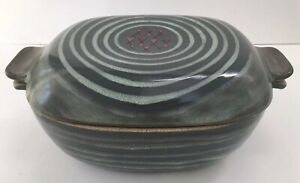 Glidden Pottery #161 HIGH TIDE Large Covered Casserole Chicken Roaster Fong Chow