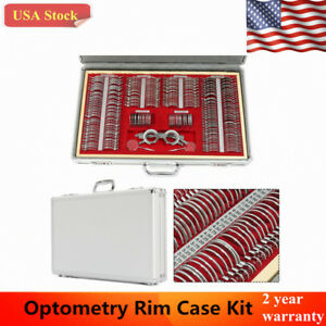 Us 266 Pcs Optical Trial Lens Set Metal Rim 1 Pc Trial Frame aluminium Case