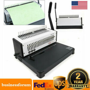 21 Holes Manual Steel Comb Coil Binding Machine Paper Punch Binder A4 Paper Usa