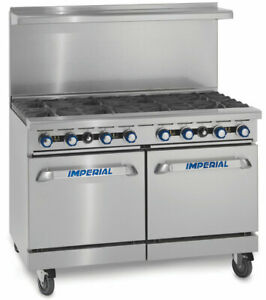 Imperial Range Ir 8 48in Gas Restaurant Range 8 Burners Oven