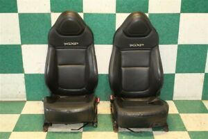 06 09 Solstice Black Leather Gxp Front Left Right Manual Track Bucket Seat Set