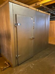Used 10 X 10 X 8 Walk In Cooler Box W Refrigeration System