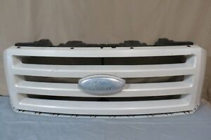 07 14 Ford Expedition Front Upper Radiator Bumper Grille Grill Mesh White Oem