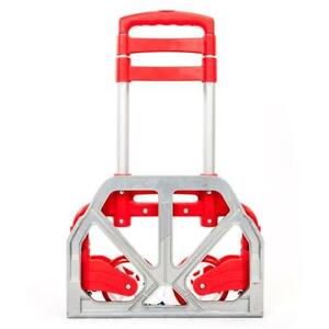 Portable Aluminium Alloy Collapsible Trolley Cart Lightweight Trolley