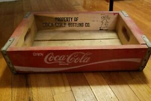 COCA COLA WOODEN CRATE BOTTLE Carry Case OG VINTAGE Coke
