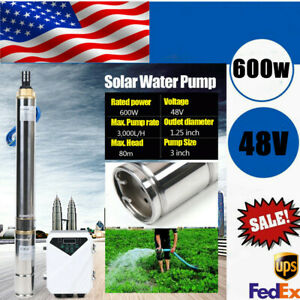 3 48v 600w Submersible Solar Water Pump Deep Well Mppt Controller Max Head 80m
